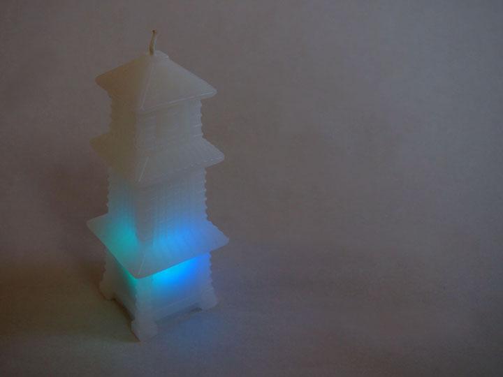 光る時の鐘キャンドル