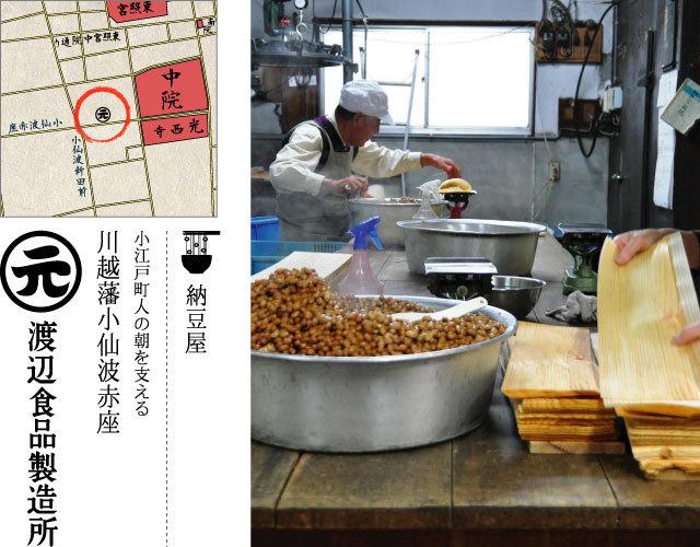 小江戸町人の朝を支える 川越藩小仙波赤座 渡辺食品製造所